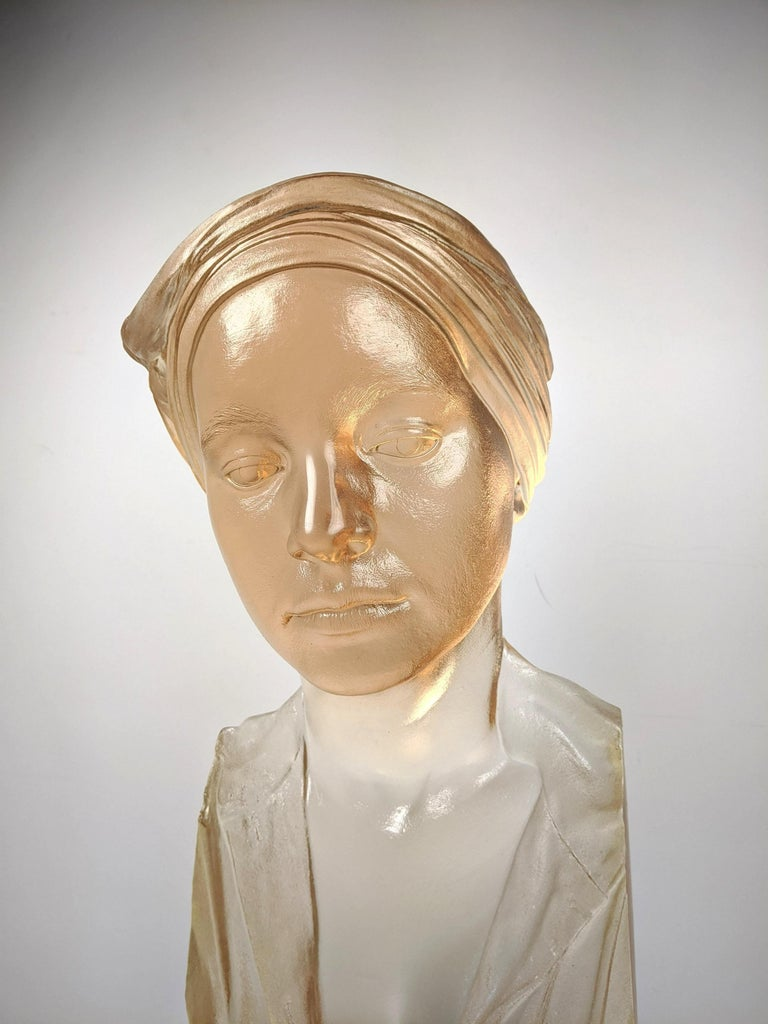 Marc Sijan Hyper Realist Contemporary Cast Acrylic Resin Sculpture Portrait Bust For Sale 1
