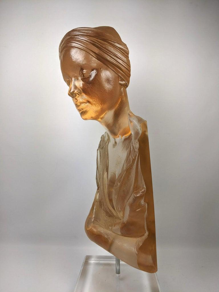 Marc Sijan Hyper Realist Contemporary Cast Acrylic Resin Sculpture Portrait Bust For Sale 2