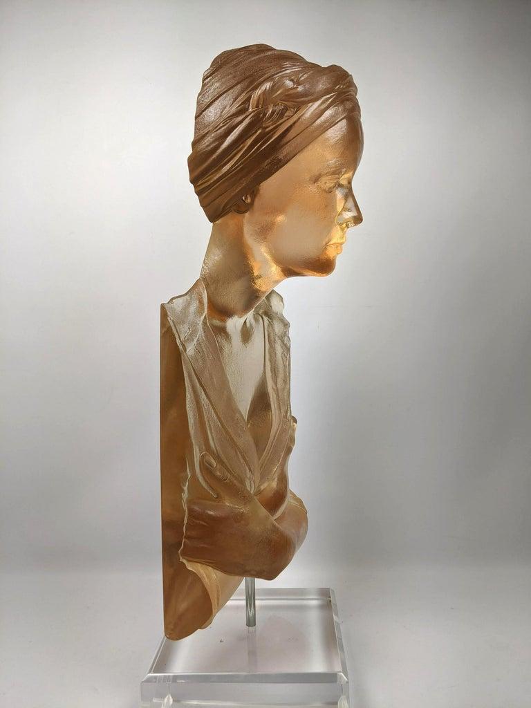 Marc Sijan Hyper Realist Contemporary Cast Acrylic Resin Sculpture Portrait Bust For Sale 3