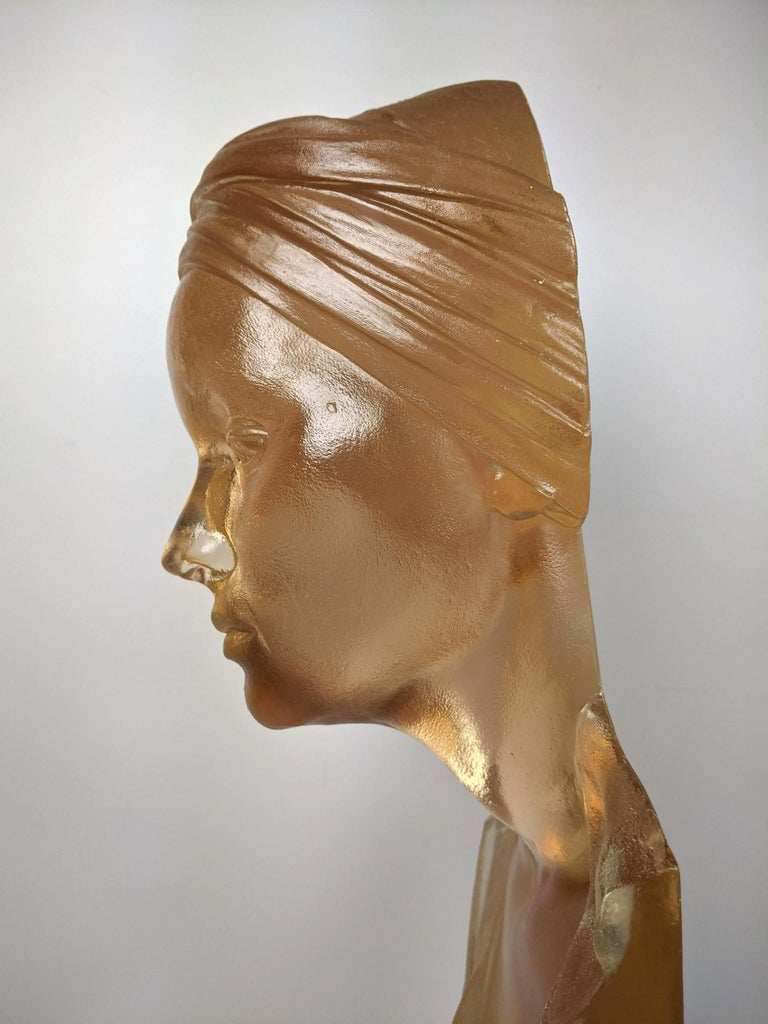 Marc Sijan Hyper Realist Contemporary Cast Acrylic Resin Sculpture Portrait Bust For Sale 4
