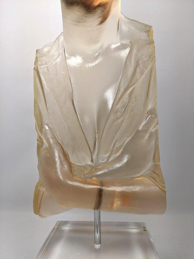 Marc Sijan Hyper Realist Contemporary Cast Acrylic Resin Sculpture Portrait Bust For Sale 5