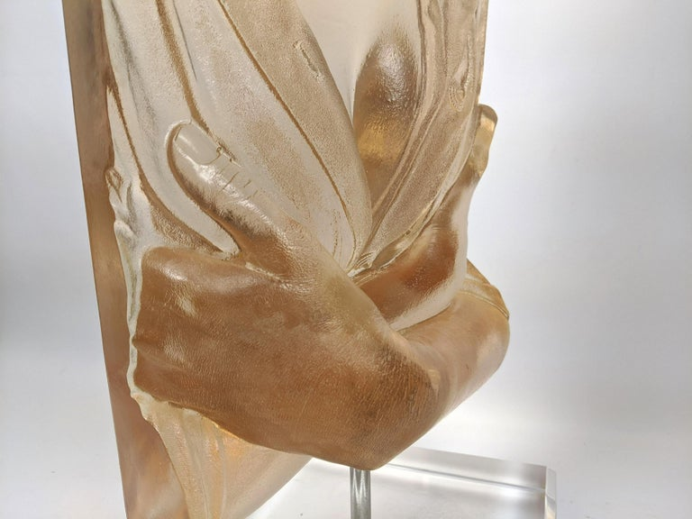 Marc Sijan Hyper Realist Contemporary Cast Acrylic Resin Sculpture Portrait Bust For Sale 7