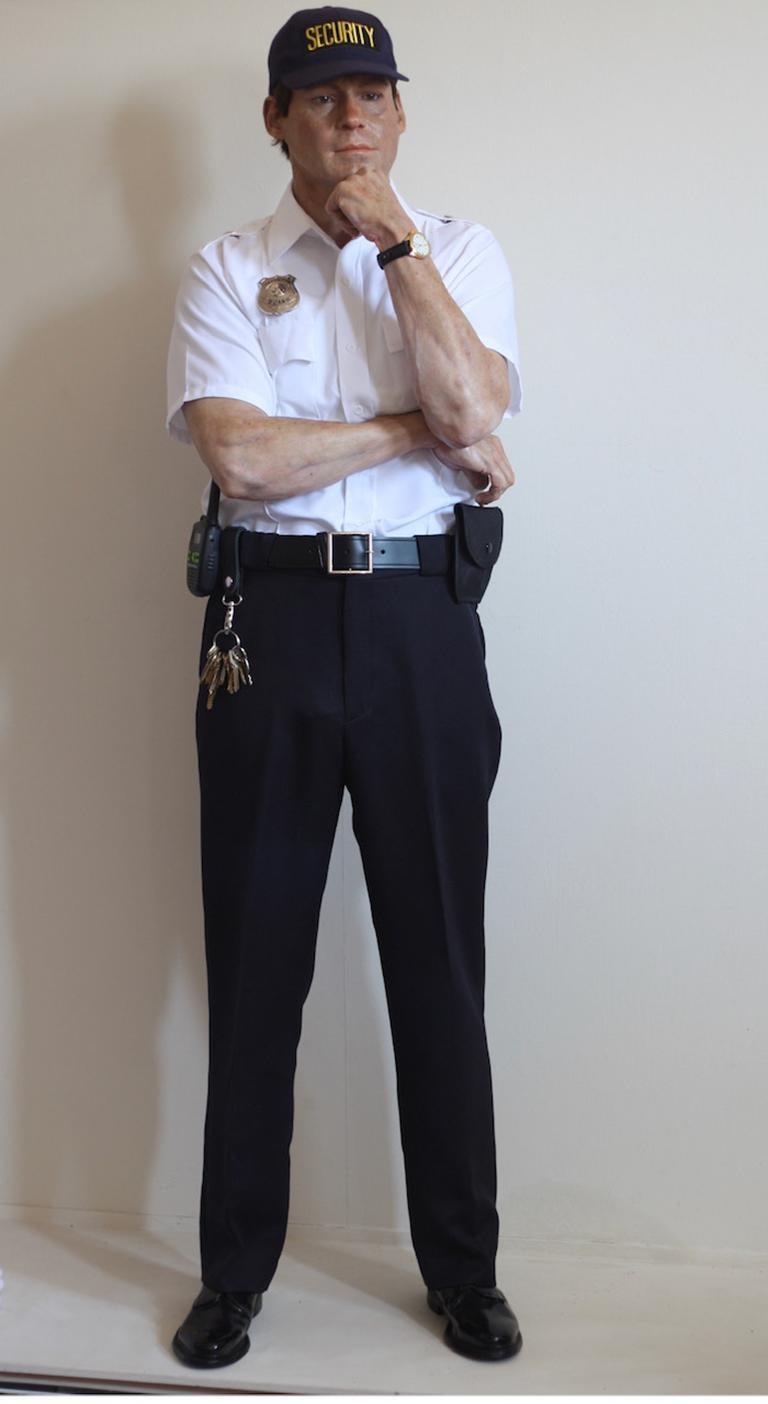 Marc Sijan Figurative Sculpture - Security Guard
