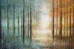 Bright Light In The Forest, Painting, Acrylic on Canvas