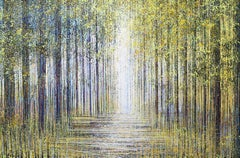 Forest Trees In Spring, Painting, Acrylic on Canvas