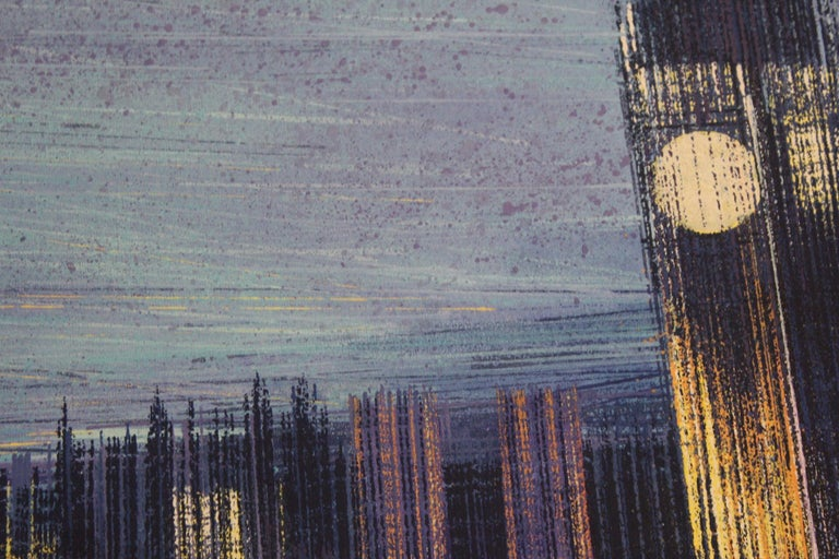 Marc Todd London Dusk Original Painting on Canvas Medium – Acrylic Paint on Canvas) Sold Unframed Image size: H 60cm x W 80cm x D 4cm Please note that in situ images are purely an indication of how a piece may look.  London Dusk is an original