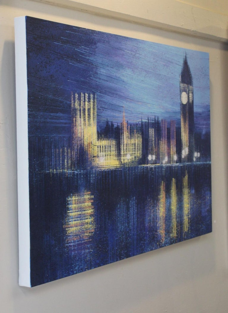 Marc Todd, London Dusk, Original cityscape painting - Contemporary Painting by Marc Todd