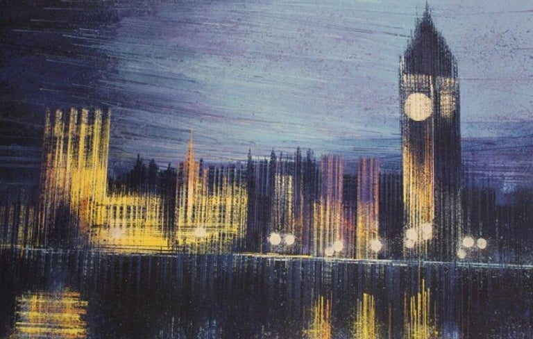 Marc Todd, London Dusk, Original cityscape painting - Painting by Marc Todd
