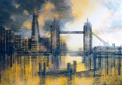 Marc Todd, London – Tower Bridge At Sunset, Original Painting, London Art