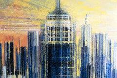 Marc Todd, Manhattan At Sunset, Original Painting, Cityscape Art, New York Art