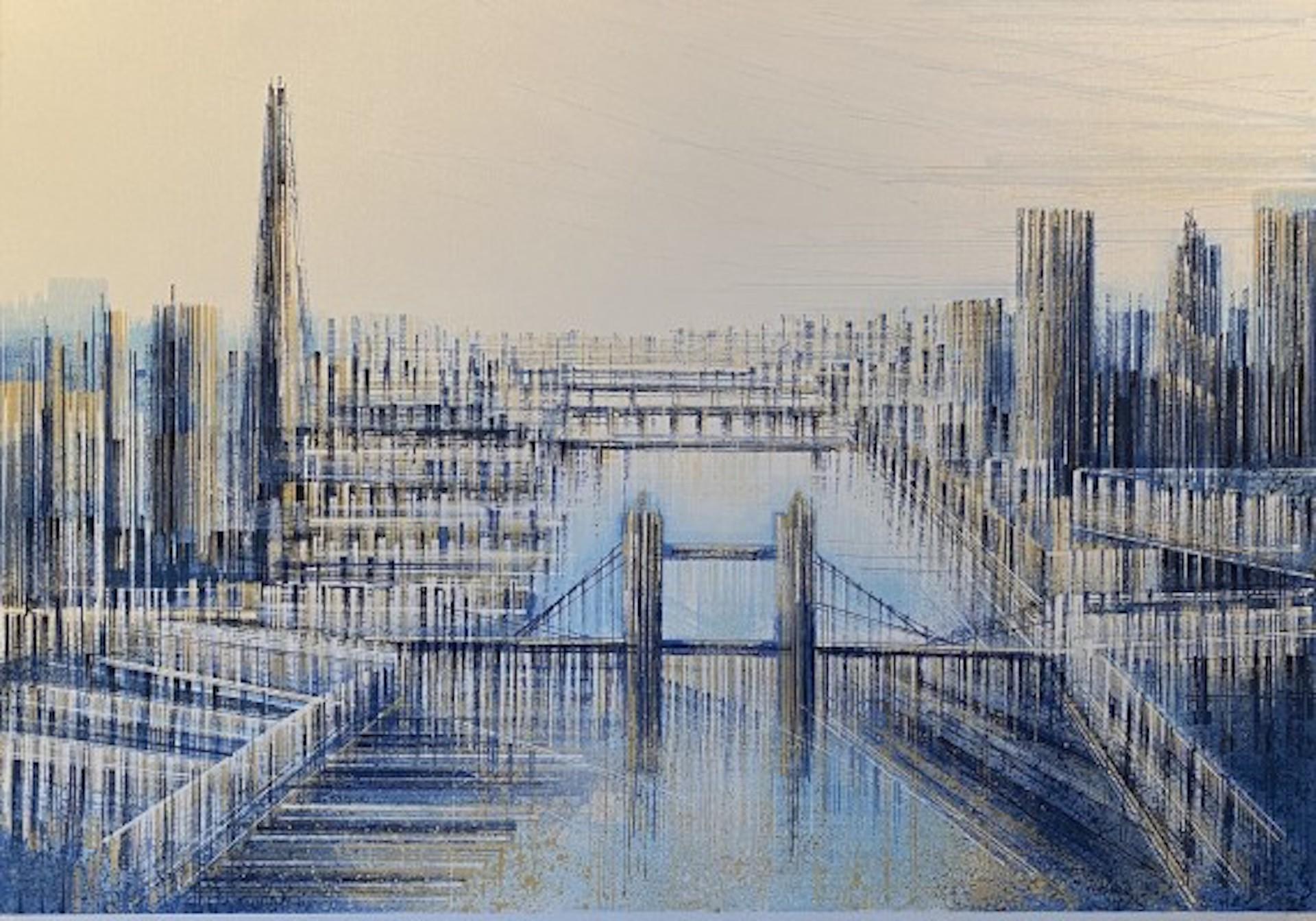 Marc Todd, Shard and Tower Bridge, London Cityscape Art, Original Painting