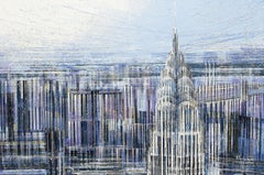 New York - The Chrysler Building In Morning Light, Painting, Acrylic on Canvas