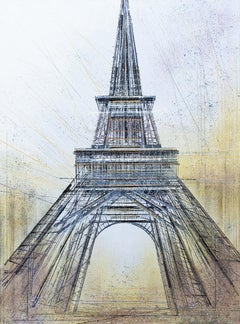Paris. The Eiffel Tower At Twilight, Painting, Acrylic on Canvas