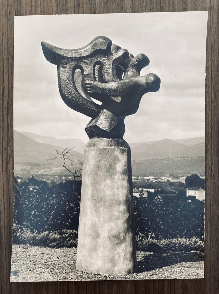 Vintage Silver Gelatin Photograph Jacques Lipchitz Bronze Sculpture Photo Signed 3