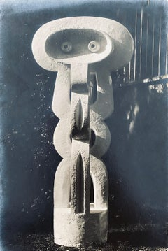 Vintage Silver Gelatin Photograph Jacques Lipchitz Sculpture Photo Signed