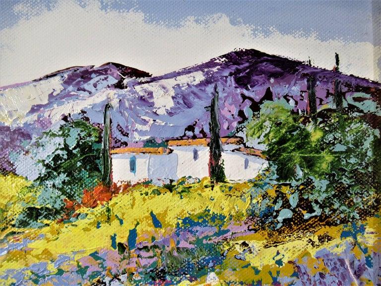 Lavandes Vers Le Mas - Impressionist Painting by Marc Vigneron