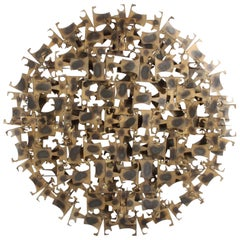 "Marc Weinstein Mid-Century Modern Brutalist Abstract Wall Sculpture "" Dorado """