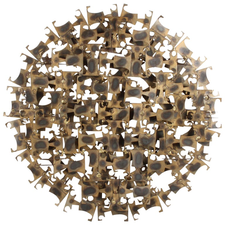 Marc Weinstein Brutalist Abstract Wall Sculpture For Sale