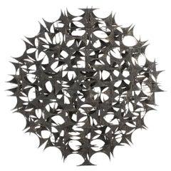 """Marc Weinstein Mid-Century Modern Brutalist """"Esperanto"""" Abstract Wall Sculpture"""