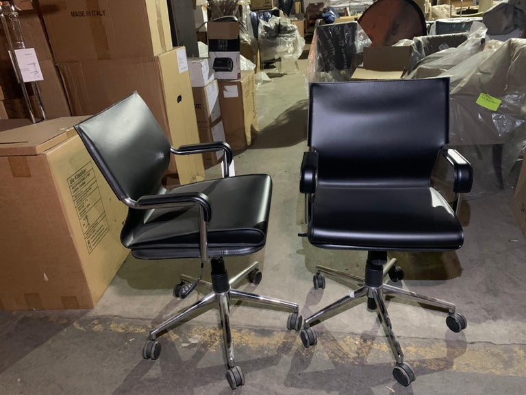 2 lowbacks back chairs By Marcatre and designed by Paolo Deganella and Gilberto Corretti, members of the Italian