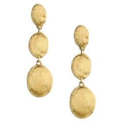 Marcco Bicego Siviglia Yellow Gold Triple Drop Earrings OB1234