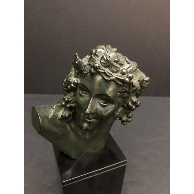 Art Deco Marcel-André Bouraine Bronze Bust Sculpture For Sale