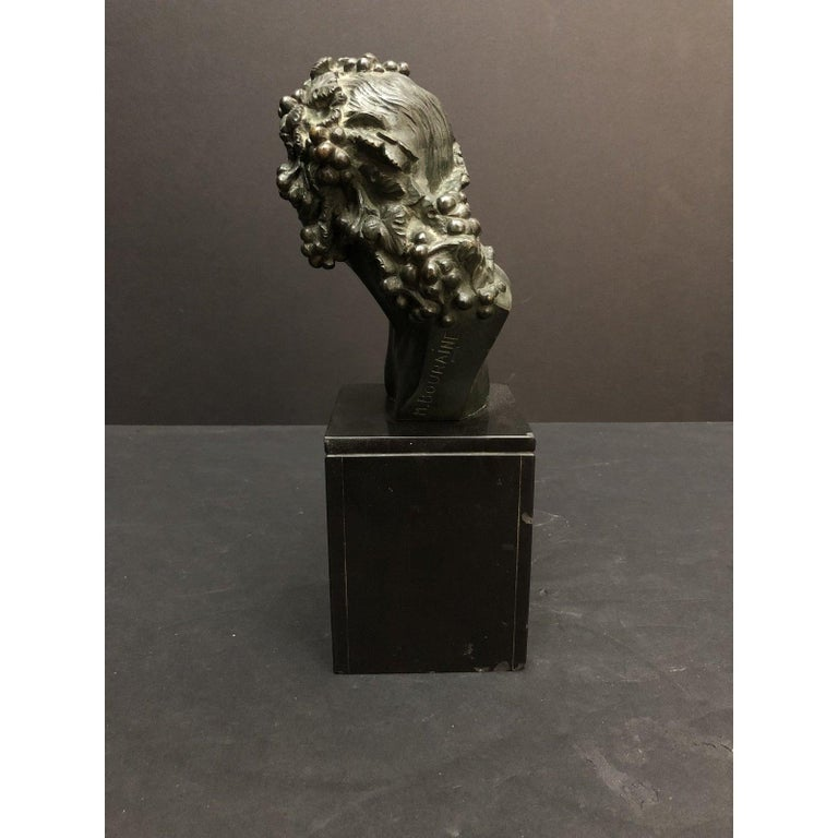 French Marcel-André Bouraine Bronze Bust Sculpture For Sale