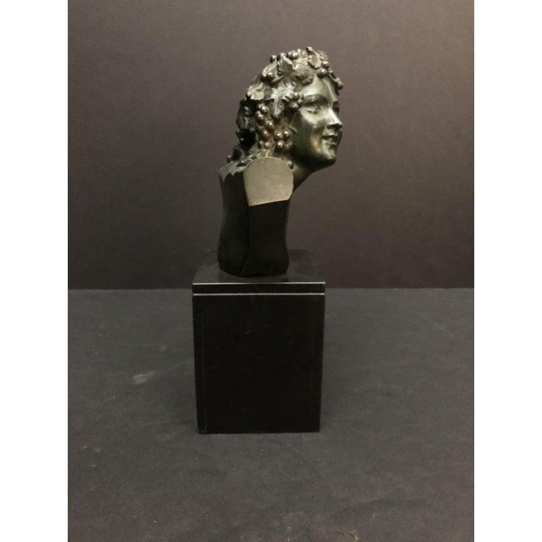 Patinated Marcel-André Bouraine Bronze Bust Sculpture For Sale