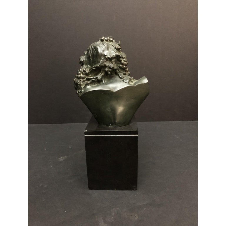 Early 20th Century Marcel-André Bouraine Bronze Bust Sculpture For Sale