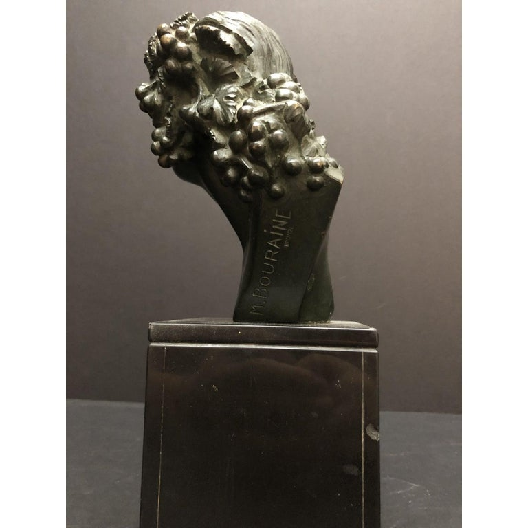 Marble Marcel-André Bouraine Bronze Bust Sculpture For Sale