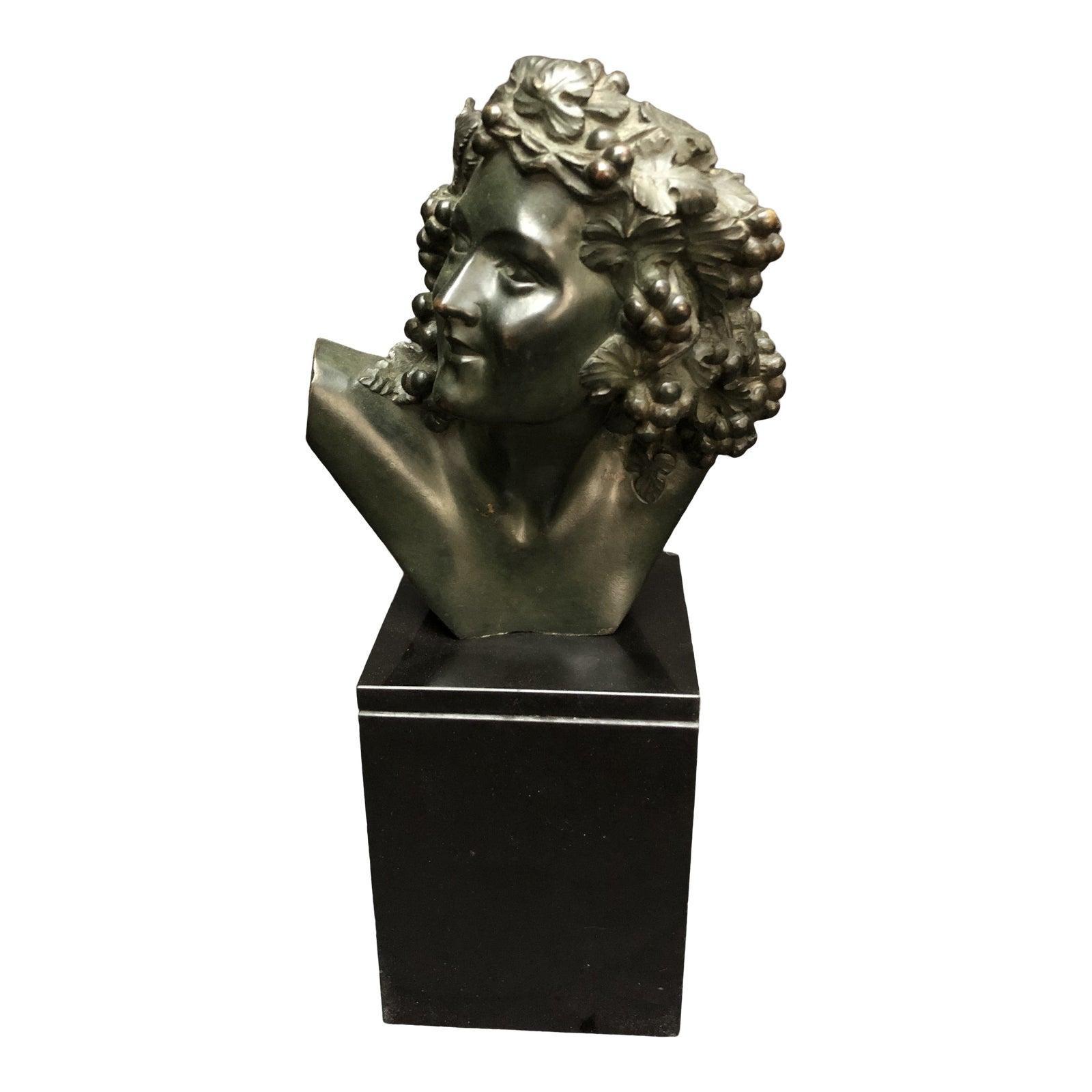 Marcel-André Bouraine Bronze Bust Sculpture