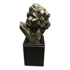 Marcel-André Bouraine Bronze Bust Sculpture