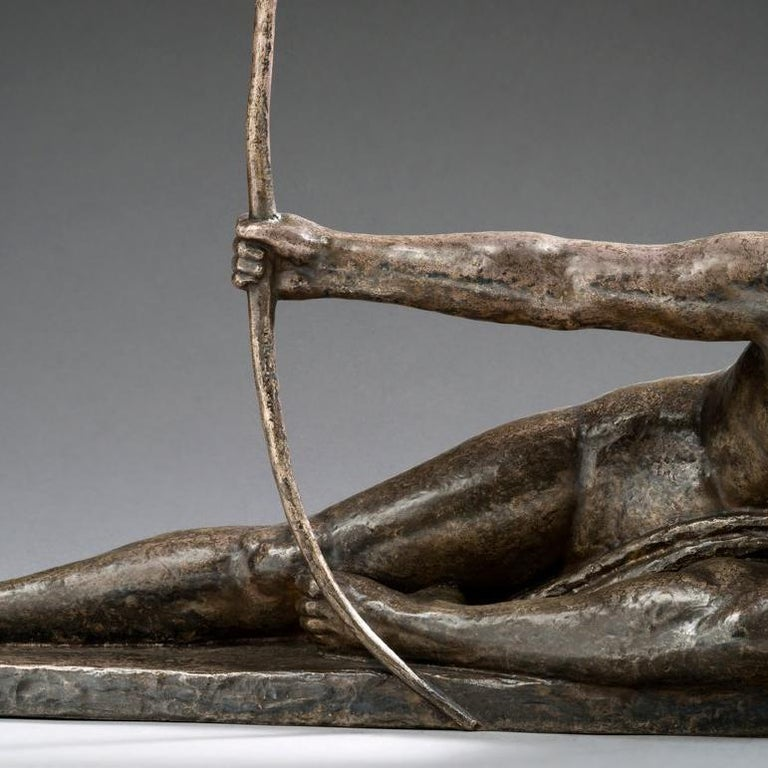 Marcel-André Bouraine 1886-1948 French  Penthesilia, Reine des Amazones  Bronze with brown patina, silver Susse Fondery Signed and sealed   Dimensions: 32 5/8
