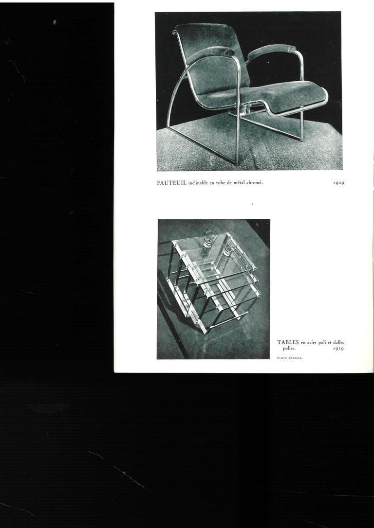 The first is a 32 page catalogue which was published in a very small number of only 50 copies in 1942. Text is in French and includes 19 black and white photographs and one page of sketches and is all furniture. The second one includes images of