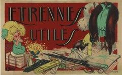 Etrenne Utile original horizontal French vintage poster