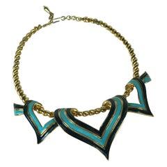 Marcel Boucher Enamel Scarf Necklace