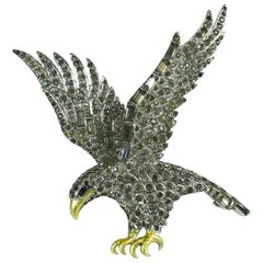 Marcel Boucher  Patriotic  Pave Swooping Eagle Pin