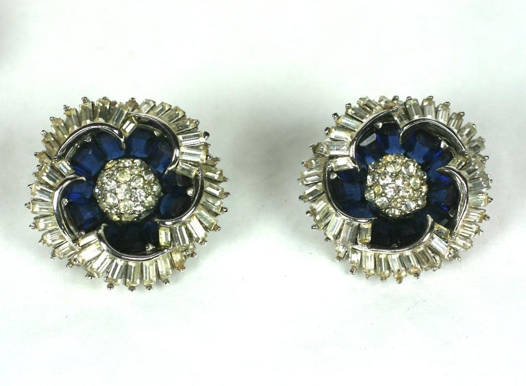Marcel Boucher Sapphire Invisibly Set Suite In Excellent Condition For Sale In Riverdale, NY