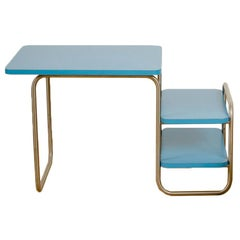Marcel Breuer Art Deco Kid's Desk with Blue Laminate Top, 1929