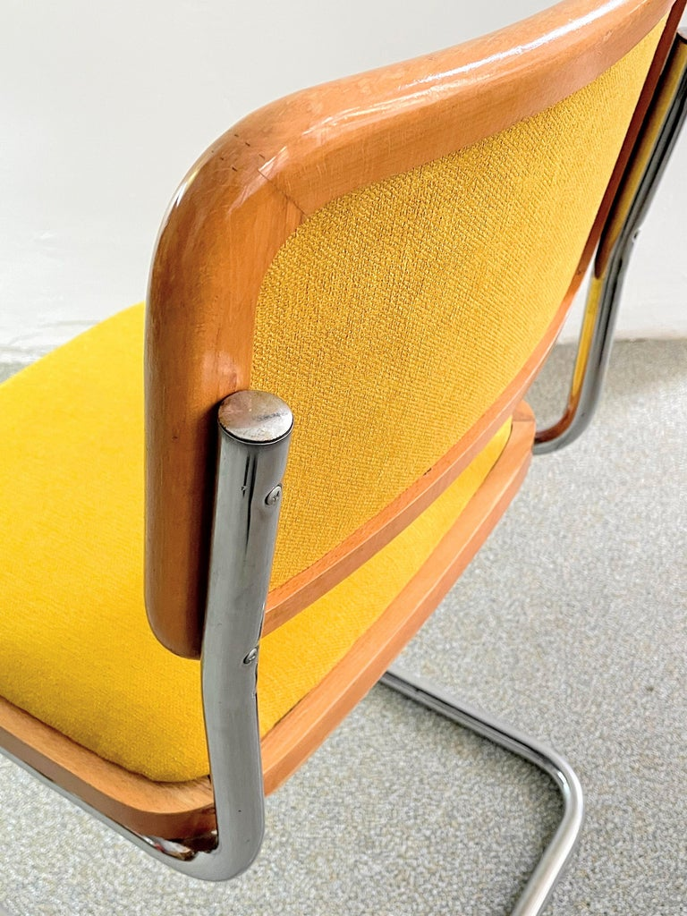 Fabric Marcel Breuer B 32 Cesca Chair Austrian edition by Bene, circa 1980 For Sale