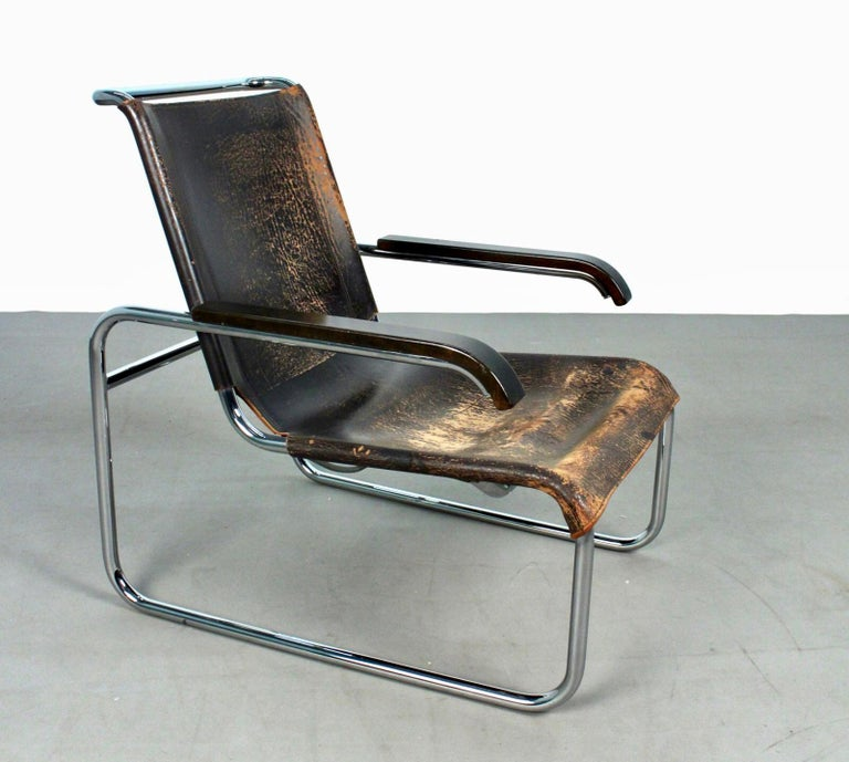 Bauhaus Marcel Breuer B35 Lounge Chair for Thonet, 1930s For Sale