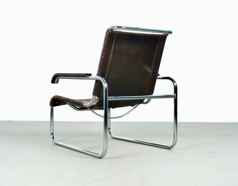 Marcel Breuer B35 Lounge Chair for Thonet, 1930s In Good Condition For Sale In Madrid, ES