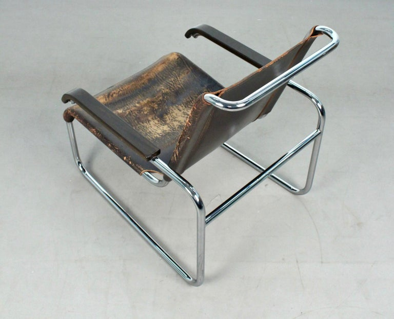 20th Century Marcel Breuer B35 Lounge Chair for Thonet, 1930s For Sale