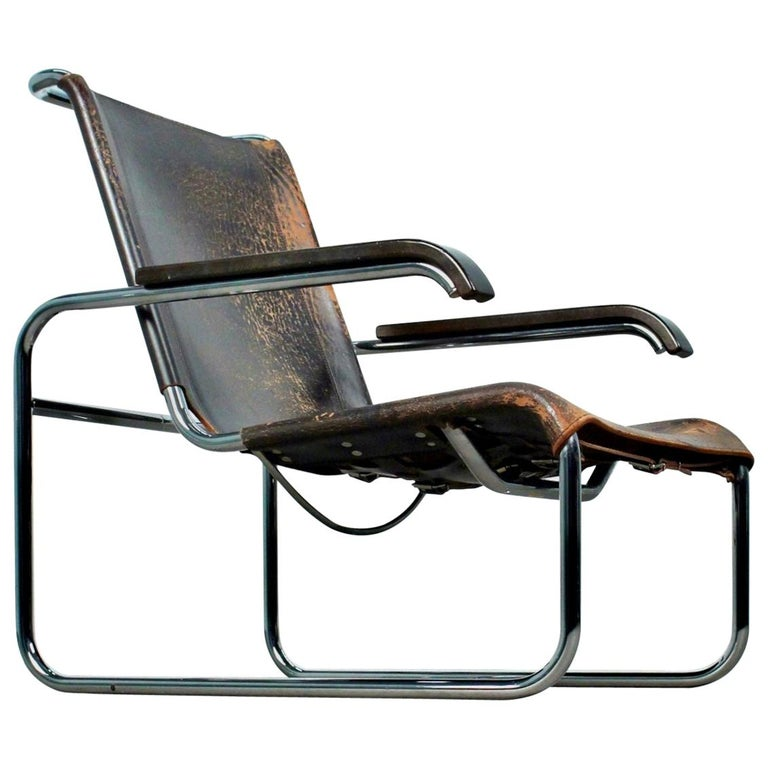 Marcel Breuer B35 Lounge Chair for Thonet, 1930s For Sale