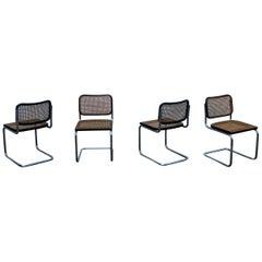 Marcel Breuer B32 Cesca Dining Room Chairs for Gavina Knoll, 1963, Set of 4