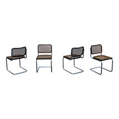 Marcel Breuer B32 Cesca Dining Room Chairs for Gavina Knoll, 1963, Set of 4