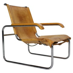 Marcel Breuer B35 Leather Lounge Chair/Armchair for Thonet, 1930s, Germany