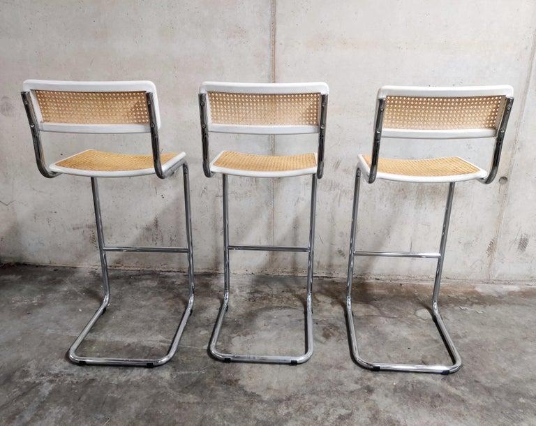 Bauhaus Marcel Breuer Bar Stools by Cidue, 1970s
