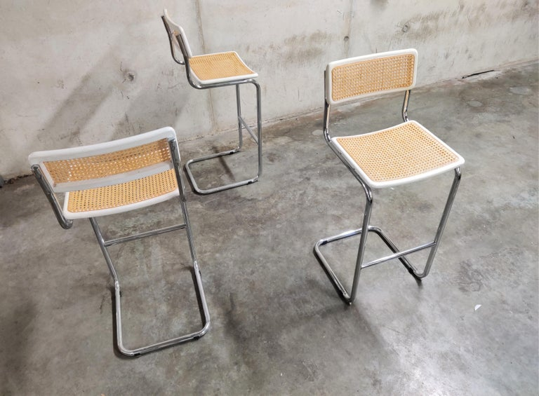 Marcel Breuer Bar Stools by Cidue, 1970s In Excellent Condition In Neervelp, BE