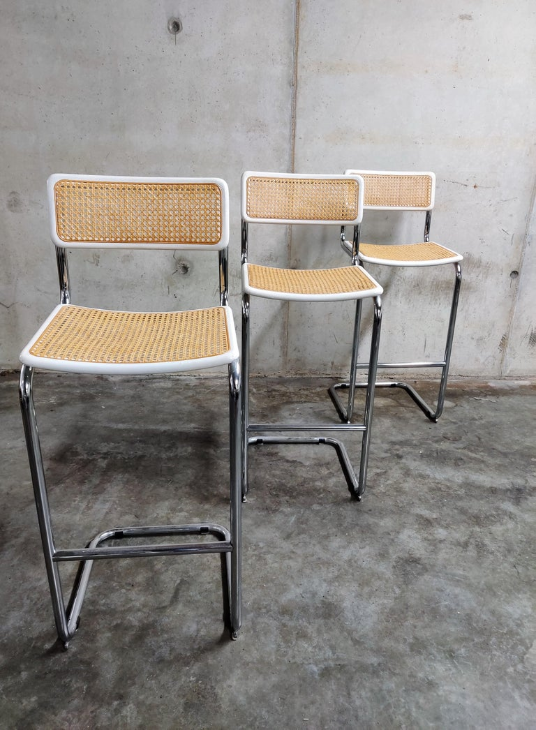 Late 20th Century Marcel Breuer Bar Stools by Cidue, 1970s
